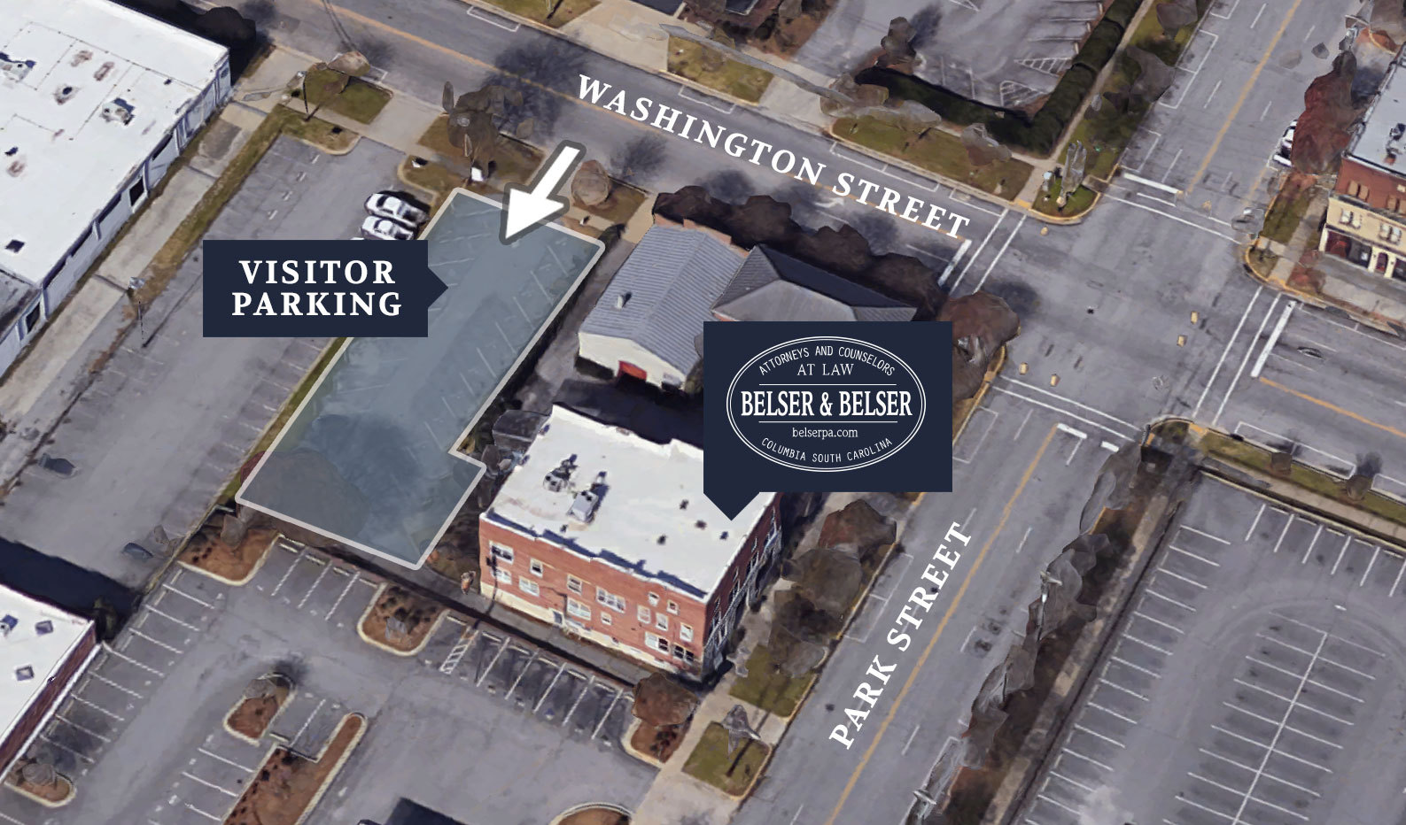 Belser & Belser Parking Map